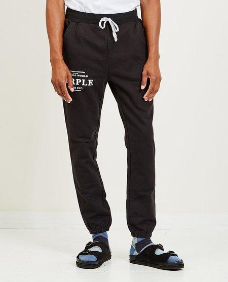 Purple Brand Sign and Wonders Sweatpants - Wash Black