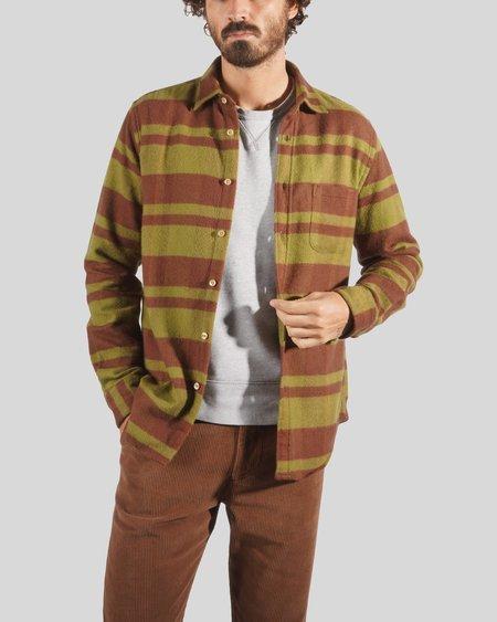 Portuguese Flannel Bonefire Flannel Shirt - Green/Brown