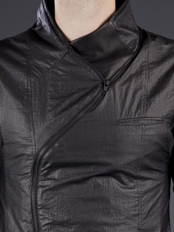Men's Delusion mixed leather jacket