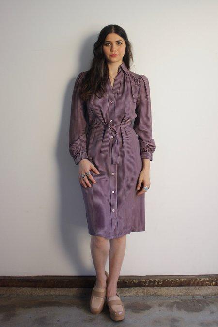 Myrtle Joan Dress - Navy/Pink
