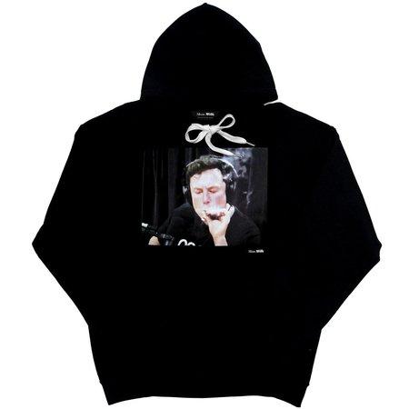 Unisex Skim Milk Elon Musk Blunt hoodie - Black