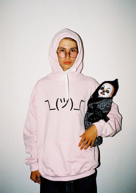 Unisex Skim Milk Idk Emoji Hoodie - pink