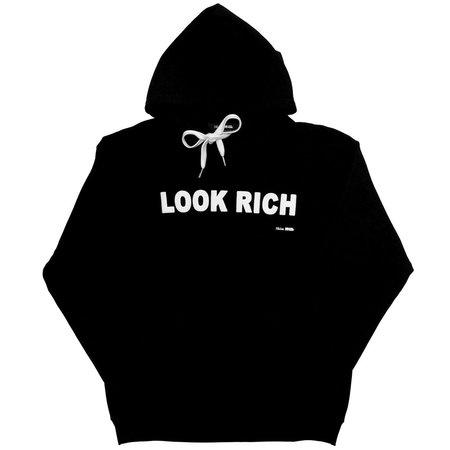 Unisex Skim Milk Look Rich hoodie - Black