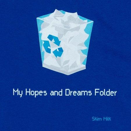 Unisex Skim Milk My hopes and dreams folder hoodie - royal blue