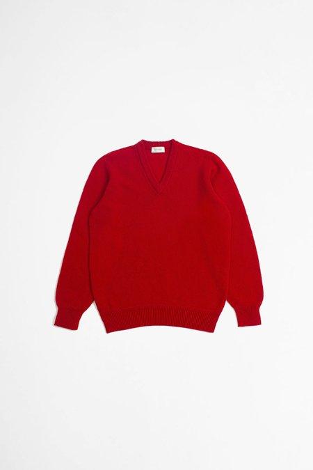 Lemaire Seamless v-neck sweater - poppy red