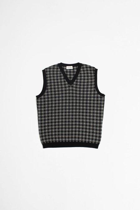 Scaglione vichy Vest - black/grey