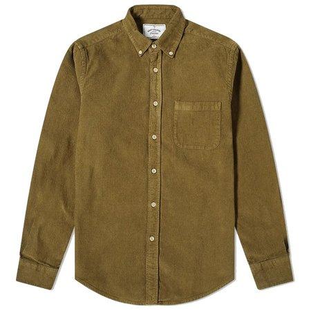 PORTUGUESE FLANNEL Lobo Corduroy Shirt - Olive Green