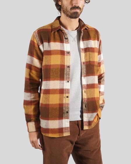 PORTUGUESE FLANNEL Check Shirt - Terracota