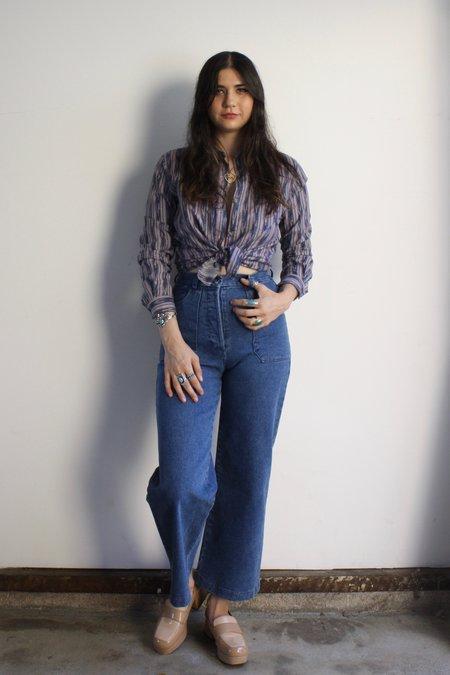 Vintage 80s Diane Von Furstenberg Buttondown shirt - multi