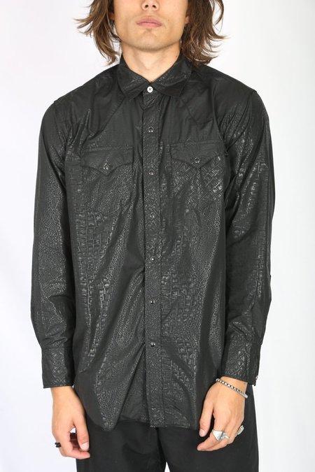Engineered Garments Western Shirt - Black Alligator