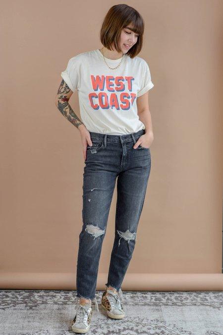 UNISEX RETROBRAND BLACK LABEL West Coast Tee - Off White