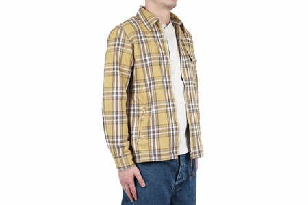Remi Relief 12OZ CPO CHECK JACKET - YELLOW