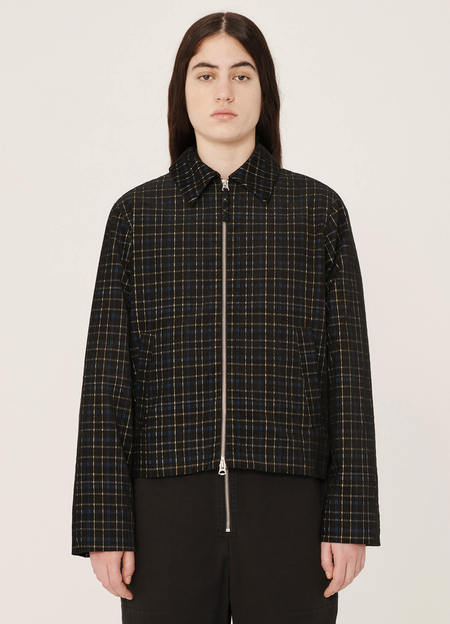 YMC Groundhog Cotton Check Cord Jacket - Black Multi