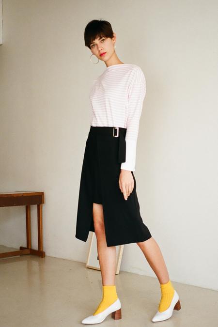O.O Chance Midi Skirt- Black