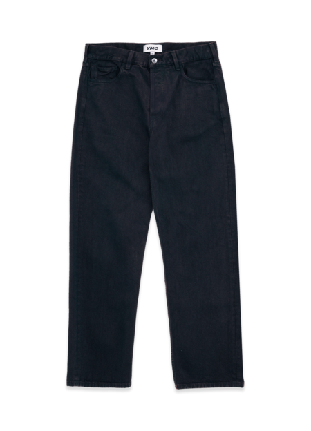 YMC Papa Organic Cotton Twill Jeans - Navy