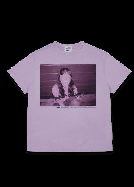 YMC Women's Triple Cotton Indie Print T Shirt - Lilac