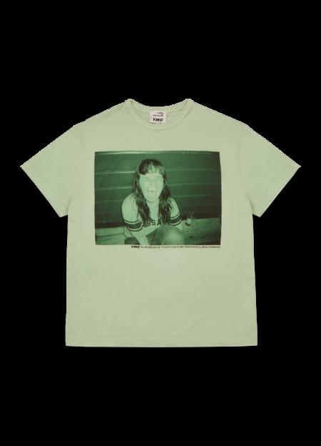 YMC Men's Triple Cotton Indie Print T Shirt - Green