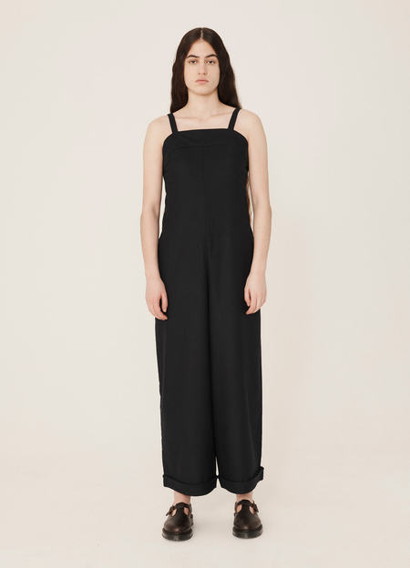 YMC Lodge Washed Wool Jumpsuit - Navy