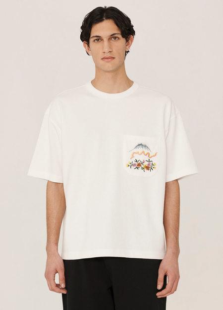 YMC Mountain Organic Cotton Piece Dyed T Shirt - White
