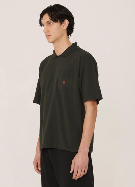 YMC Frat Organic Cotton Pique Cotton T Shirt - Green