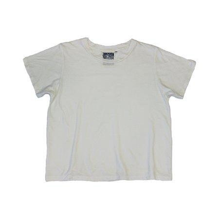 Jungmaven Cropped Ojai Tee - Washed White