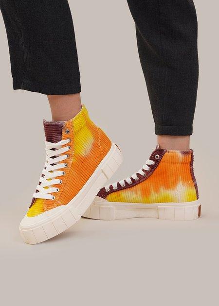 Good News Palm Corduroy Sneakers - orange/purple