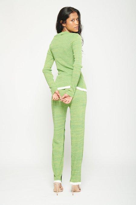 Christopher Esber Deconstruct Knit Trouser - Green/Black