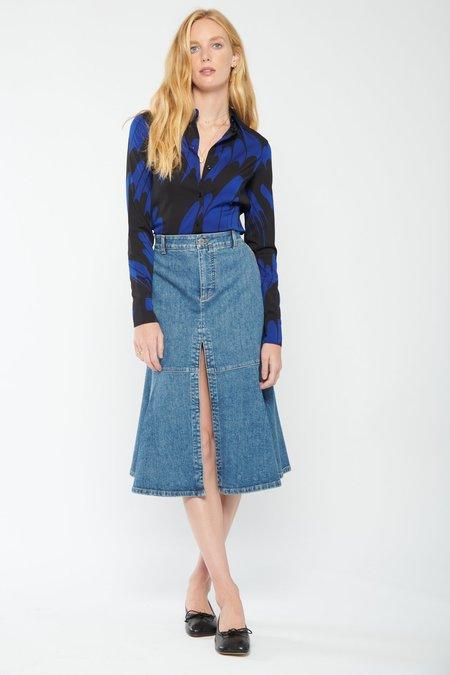 Vintage Wash Skirt-Blue