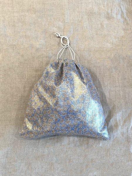maria la rosa bag Maria La Rosa Metallic Pouch - Blue
