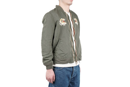 Remi Relief NYLON 66 BOMBER JACKET (TIGER) - KHAKI