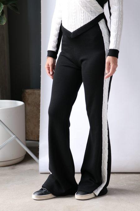 Victor Glemaud Pants - black/White Stripe