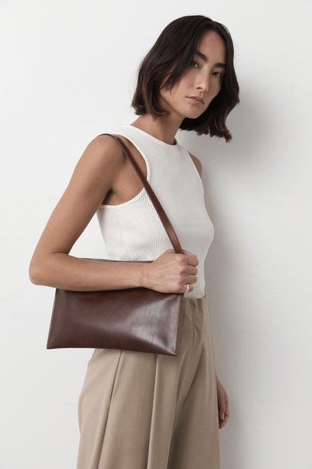 St. Agni mini moon leather sling bag - antique tan