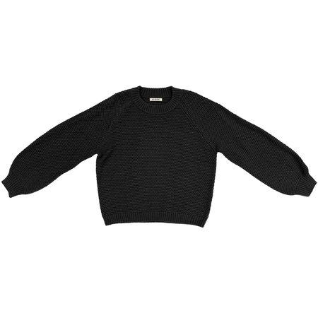 Ali Golden Rice Stitch Pullover - Black