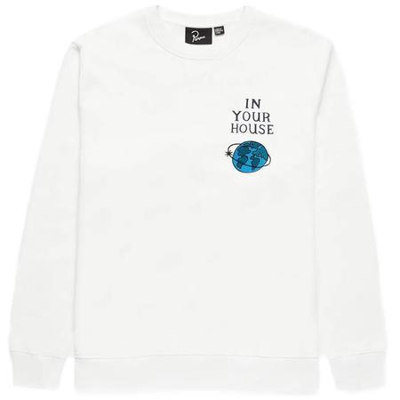 PARRA Systems Logo Crew Neck Sweatshirt - White