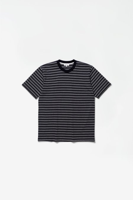 Norse Projects Johannes college stripes T-Shirts - dark navy
