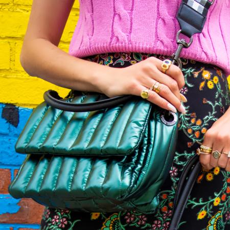 Think Royln Bar Bag - Pearl Emerald
