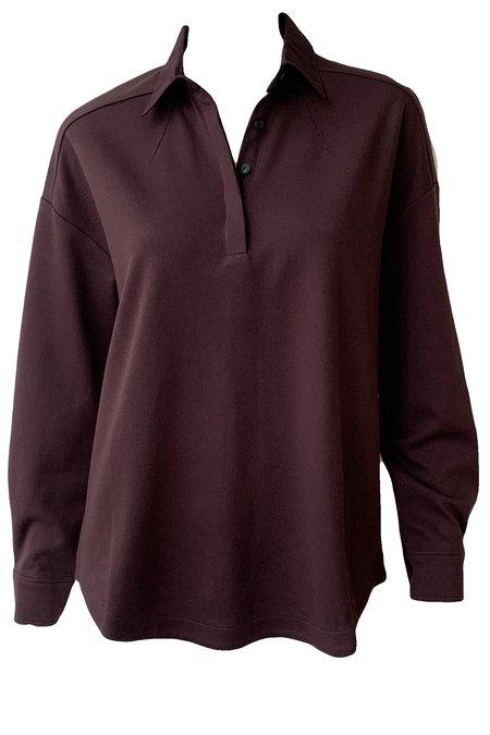Rag & Bone Joan Shirt - Heathered Burgundy