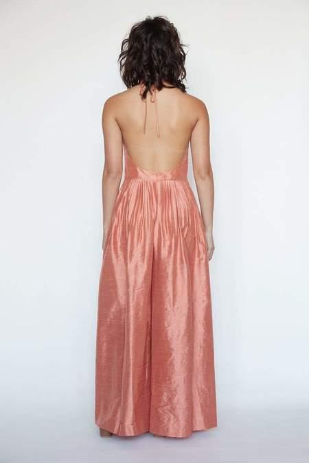 Marie Jumpsuit in Silk Dupioni