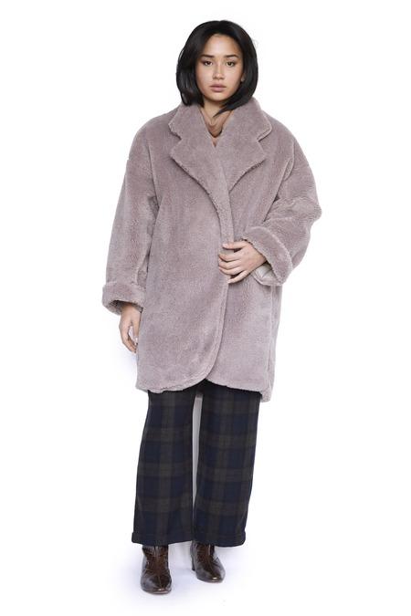 Christine Alcalay Zora Coat - Clay Faux Shearling