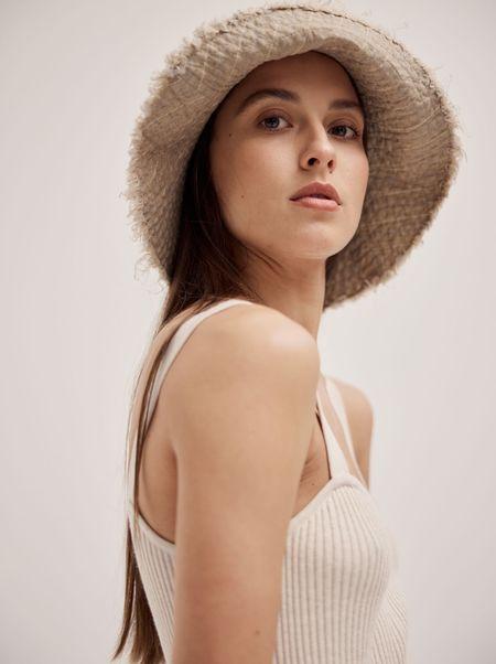 MARLE Nonna hat - Sesame stripe