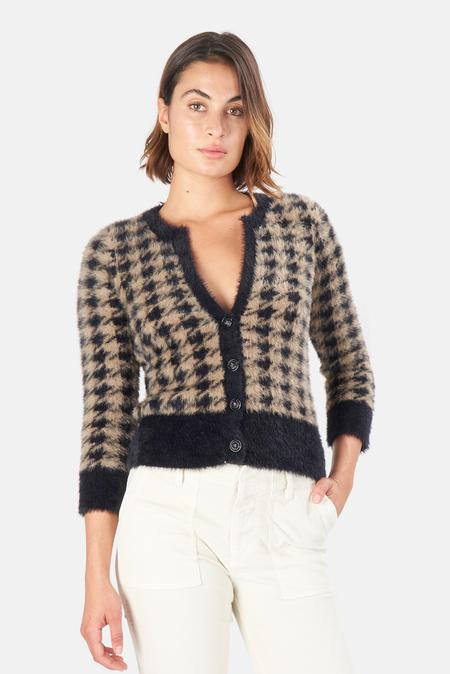 Women's L'Agence Saylor Cardigan Sweater - Black Latte