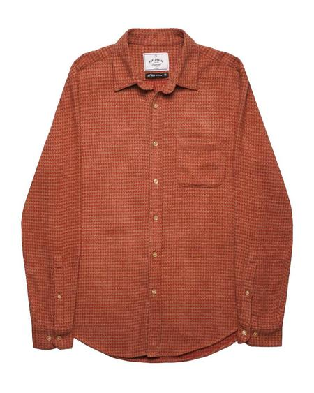 Portuguese Flannel ABSTRACT PIED POULE TOP - RED