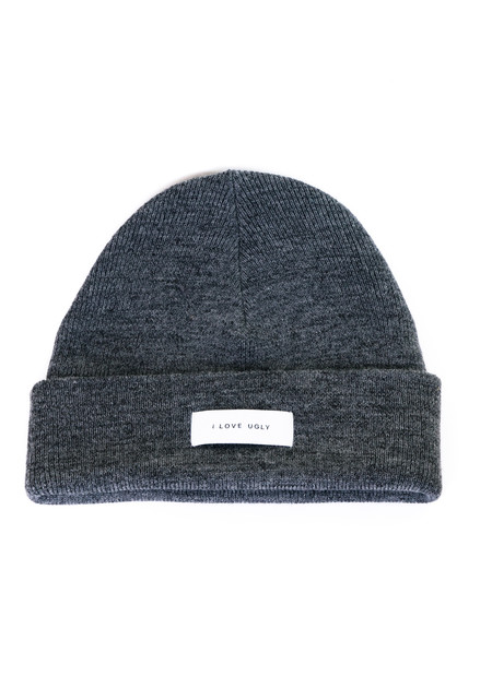 I Love Ugly Otis Beanie - Black Speckle/Marled Grey