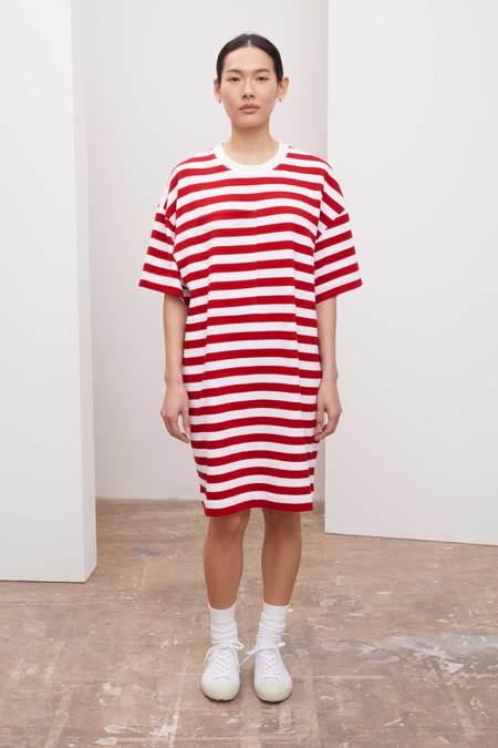 Kowtow Tee dress - red stripes
