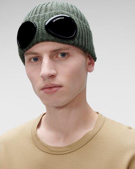 CP company Extra Fine Merino Wool Goggle Beanie - Stone Gray