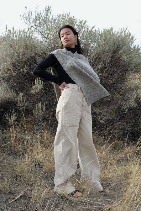 Mónica Cordera Soft Wool Cape - Grey
