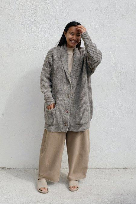 Mónica Cordera Soft Wool Coat - Grey