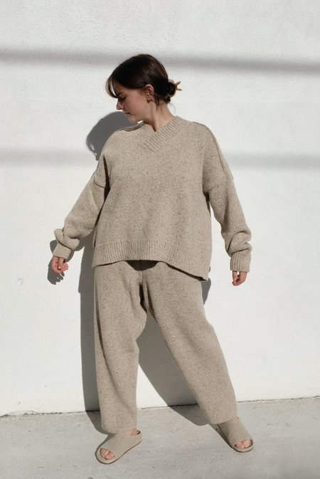 Mónica Cordera Soft Wool Pants - Taupe