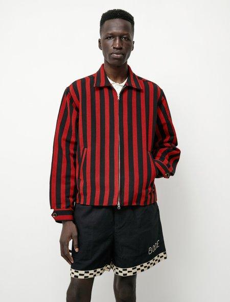 BODE Sporting Stripe Jacket - Black/Red