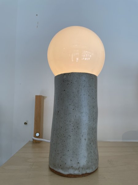 Lisa Fontaine Table Lamp - Gray